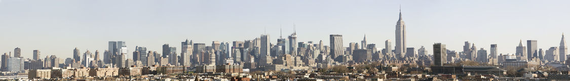 Manhattan Skyline Panorama Daytime Royalty Free Stock Image
