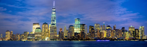 Manhattan skyline panorama Stock Photography