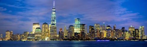 Manhattan skyline panorama Stock Photography