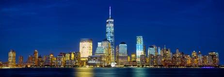 Manhattan skyline panorama Stock Image