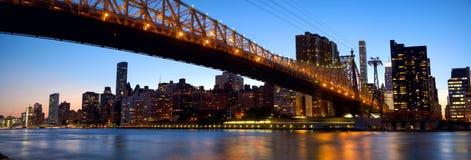 Manhattan skyline with Queensboro Bridge Stock Photography