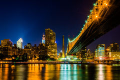 The Manhattan Skyline and Queensboro Bridge seen from Roosevelt Royalty Free Stock Photo