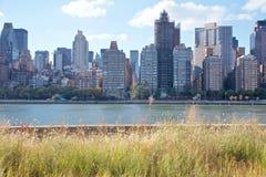 Manhattan Skyline from Roosevelt Island Stock Image