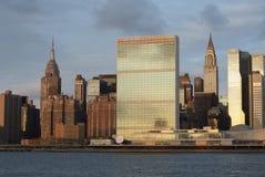 Manhattan Skyline seen from Long Island City Royalty Free Stock Photo