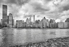 Manhattan skyline seen from Roosevelt Island, NYC. Manhattan skyline seen from Roosevelt Island, New York City, USA stock images