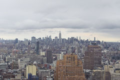 Manhattan skyline. Shot of new York city downtown skyline Royalty Free Stock Images