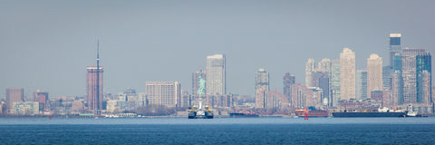 Manhattan Skyline with Statue of Liberty Royalty Free Stock Photos