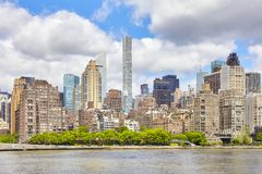 Manhattan skyline on a summer day, NYC. Manhattan skyline on a summer day, New York City, USA stock photo