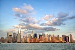 Manhattan skyline at sunset Royalty Free Stock Image