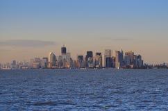 Manhattan Skyline at Sunset Royalty Free Stock Photo