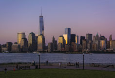 Manhattan Skyline after Sunset Royalty Free Stock Photos