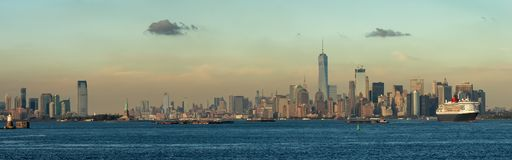 Manhattan skyline . USA royalty free stock photo