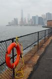 Manhattan Skyline view in the autumn, NYC Royalty Free Stock Image