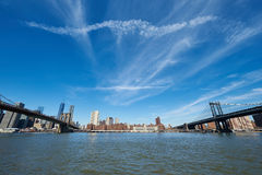 Manhattan skyline view from Brooklyn Stock Image