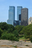 Manhattan skyline view from Central Park Stock Photography