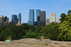 Manhattan skyline view from Central Park Royalty Free Stock Images