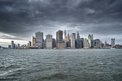 Manhattan skyline. Stock Photos