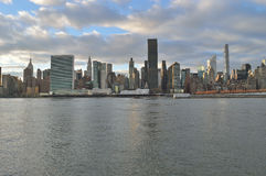 Manhattan skyline. View of the Manhattan skyline with copy space Royalty Free Stock Image