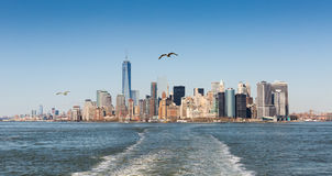 Manhattan skyline Stock Photography