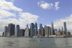 Manhattan Skyline viewed from Brooklyn Stock Photography