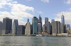 Manhattan Skyline viewed from Brooklyn Stock Photos