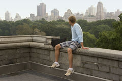 Manhattan-Skyline von Central Park Stockbilder