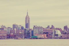 Manhattan-Skyline von Hoboken Lizenzfreie Stockfotos