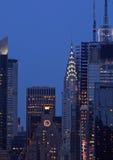 manhattan skyline w połowie miasta zdjęcie stock