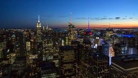 Manhattan skymning Royaltyfri Bild