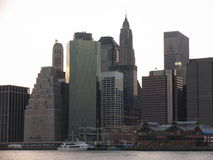 Manhattan skyscrapers. Seen during late afternoon Royalty Free Stock Photos