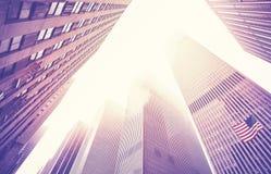 Free Manhattan Skyscrapers In Fog, New York City, USA. Royalty Free Stock Photos - 95438458