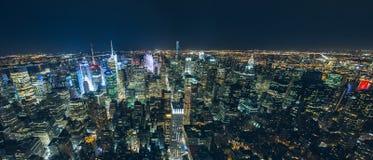 Manhattan skyscrapers at night Royalty Free Stock Image