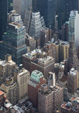 Manhattan Skyscrapers from the top, New York, USA Stock Photography