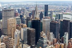 Manhattan Skyscraprers widok z lotu ptaka, NYC Obrazy Stock