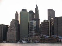 manhattan skyskrapor royaltyfria foton