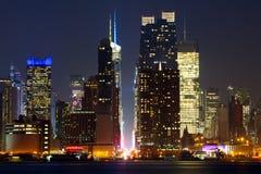 Manhattan stads- skyskrapor Royaltyfria Foton