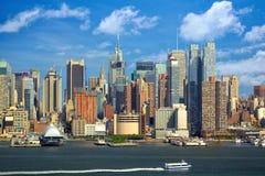 Manhattan stads- skyskrapor Arkivbild