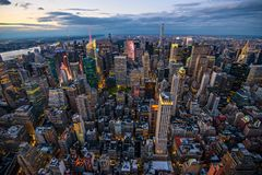 Manhattan - Stadt des neuen Werks - USA Stockfotografie