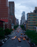 Manhattan-Stadtmittestraßenansicht, New York, Amerika Stockfotografie