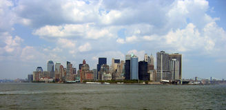 Manhattan from Staten Island. A view of downtown Manhattan, New York as seen from Staten Island royalty free stock images