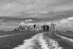 Manhattan as Viewed from the Staten Island Ferry royalty free stock photography