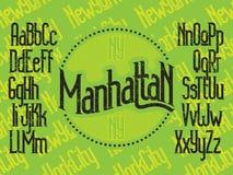 Manhattan stilsortsuppsättning stock illustrationer