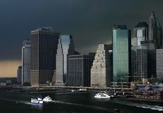 manhattan storm Royaltyfria Bilder