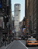 Manhattan Street in New York City Royalty Free Stock Photos