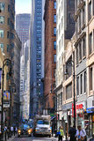 Manhattan street scene Royalty Free Stock Photo