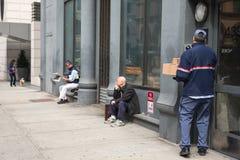 Manhattan street scene Stock Photos