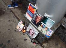 Manhattan street scene. Royalty Free Stock Image