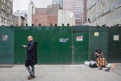 Manhattan street scene Stock Photography