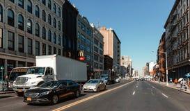 Manhattan street scene. NEW YORK, USA - Sep 22, 2016: New York and New Yorkers. Manhattan street scene. Canal street in China town royalty free stock photos