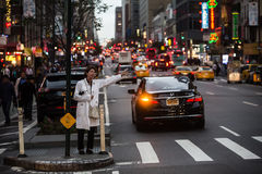 Manhattan street scene Stock Images